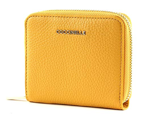 COCCINELLE Small Zip Around Wallet metálico suave con Small Zip Around Wallet...