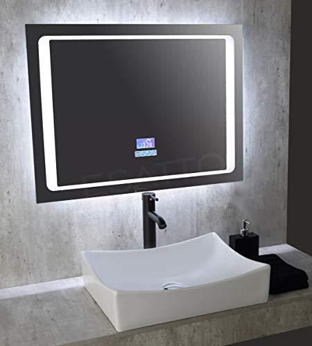 Esatto® Fantastico Espejo Led Touch Bluetooth Bocinas 80 X 60 Cm Es-002