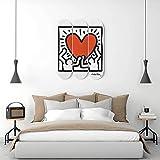 Keith Haring 'Heart of Men' Pop Art...