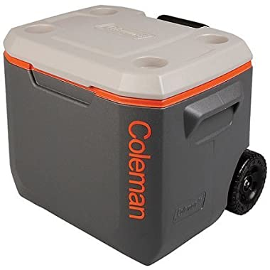 Coleman Wheeled Cooler White 50 quart