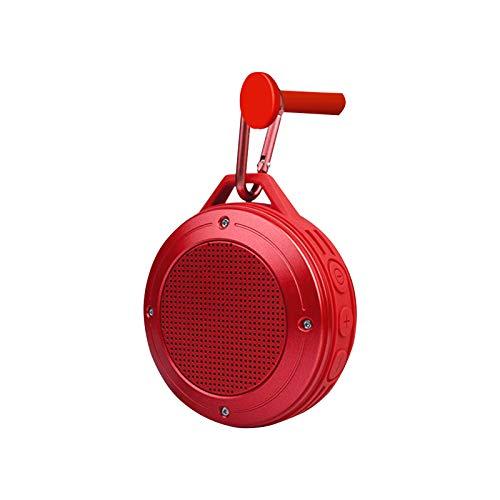 Altavoz Bluetooth, altavoz portátil con sonido de bajos estéreo 3D mejorado, impermeable a prueba de polvo IPX6, tiempo de reproducción de 10 horas, micrófono incorporado, ranura para tarjeta SD, entr