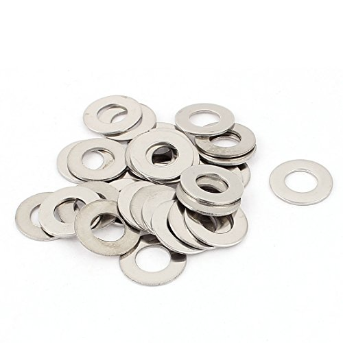 uxcell a15090700ux0175 30pcs 304 Stainless Steel M10x20mm Flat Spacer Washers (Pack of 30)