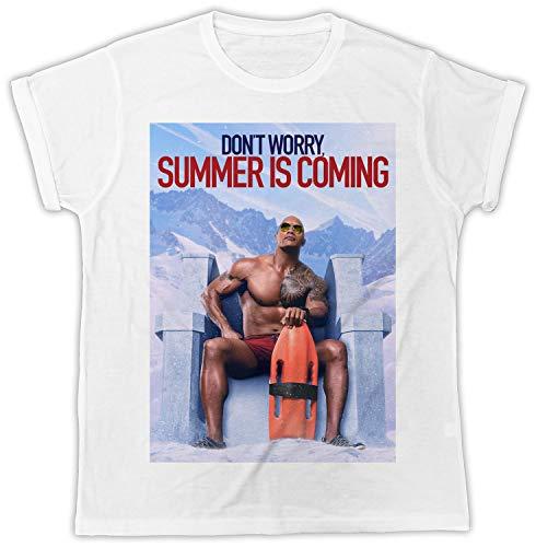 Funny Summer Is Coming The Rock Dwayne Johnson Movie Unisex Mens Tshirt