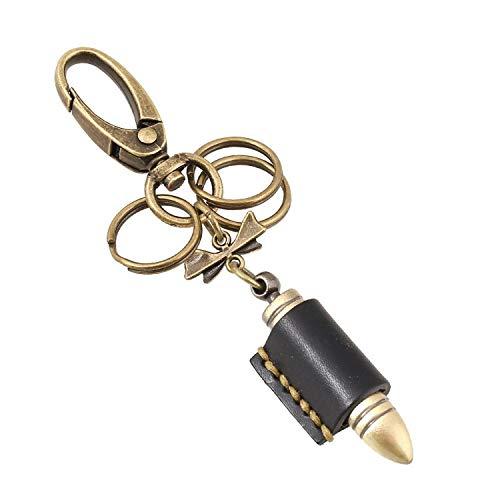 Llavero de cuero para coche, llavero para llaves de coche, adorno para colgar, regalo de negocios para hombres y mujeres