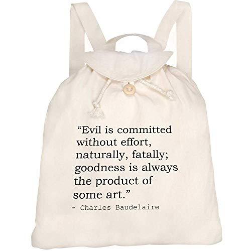Azeeda Art Quote By Charles Baudelaire Canvas Rucksack / Backpack (RK00008430)