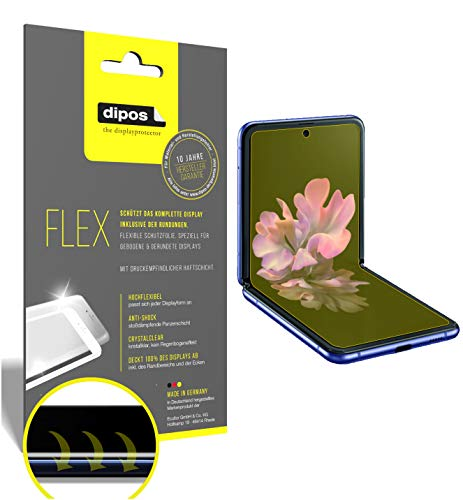 dipos I 2X Schutzfolie 100prozent kompatibel mit Samsung Galaxy Z Flip Folie I Full Cover 3D Bildschirmschutz-Folie