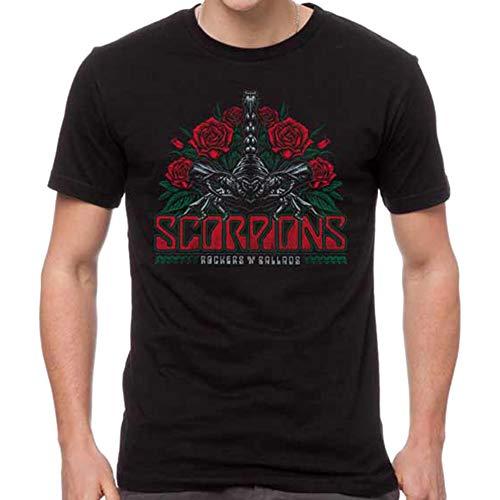H3 SPORTGEAR Scorpions Rocker Ballad - Camiseta para hombre - negro - Medium