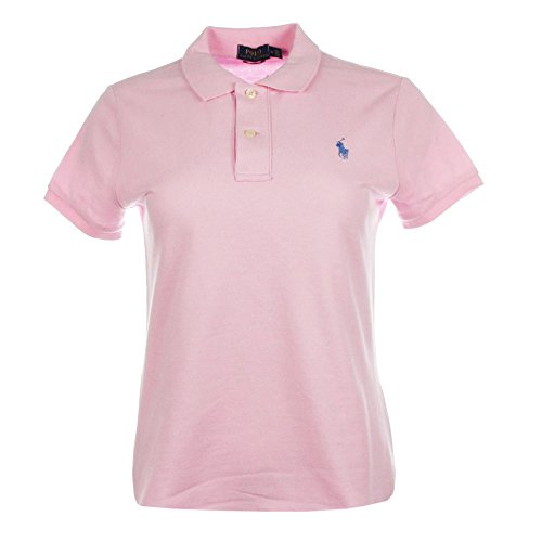 Ralph Lauren Damen Kurzarm Polo Shirt Mesh Fit (Rosa, M)
