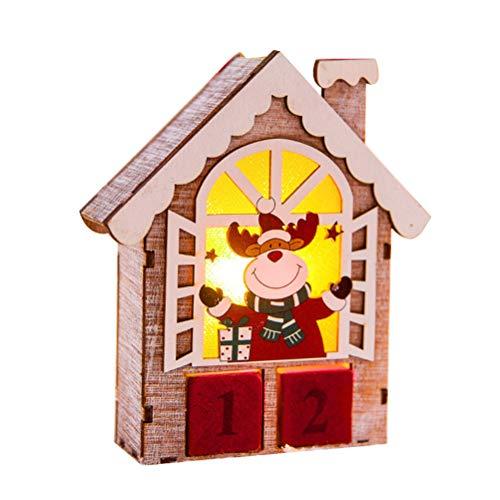 1pc Miniature House Wooden Mini House Little Tabletop House