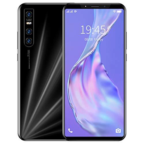 Teléfono Móvil, V15Pro Android 9.1, Llamada Gratuita SIM de Teléfono Inteligente 4G Desbloqueado, Pantalla Completa de Gota de Agua de 5.72 Pulgadas, Cámara Dual de 8MP+16MP, 4GB+64GB, Huella Digi