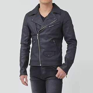 Nudie Jeans ヌーディージーンズ ライダースジャケット デニムジャケット SIXTEN ブラックコーテッド 42161-5018-B01