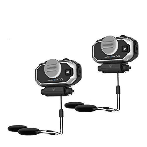 XYBH Xybhjxb Casco Bluetooth Auriculares Motocicleta Estéreo Auriculares estéreo for teléfonos móviles y Radio GPS 2-Way (Color : V8 2PCS)