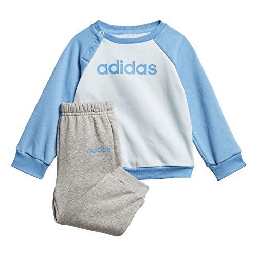 adidas Baby I Linear Jogg FL Kleid, Skytin/Lucblu/Mgreyh, 104
