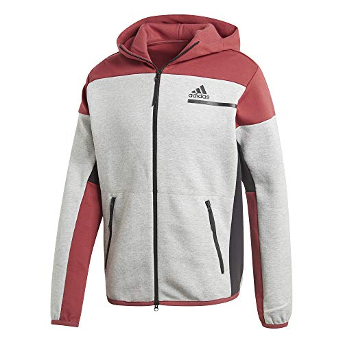 adidas Zne FZ Felpa, Uomo, Mgreyh/Legred, S