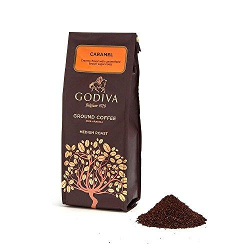 Godiva Chocolatier Assorted Caramel Ground Coffee Gift Bag, 10 Ounce