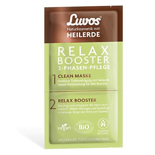 Luvos Wellness und Beauty Relax-Booster Clean-Maske Reinigungsmaske Gesicht mit Sofort-Effekt, 1 Sachet mit 2+7,5mll