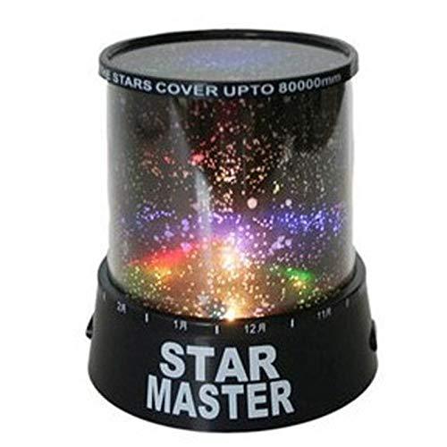 DSHRTY Nachtlicht Erstaunliche romantische Bunte Cosmos Star Master LED Projektor Lampe Nachtlicht, schwarz
