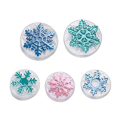 SUPVOX stampi per Resina Gioielli in Silicone Forma Fiocco di Neve 5 Pezzi