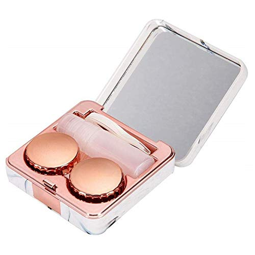 1 Pc Marble Contact Lens Case Travel Contact Lens Case Mini Box Beauty Box...