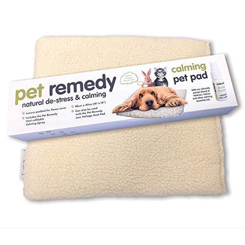 Pet Remedy - Almohadilla calefactada de bajo Voltaje para Mascotas y calmante para Cama de Gatos, Perros, Conejos