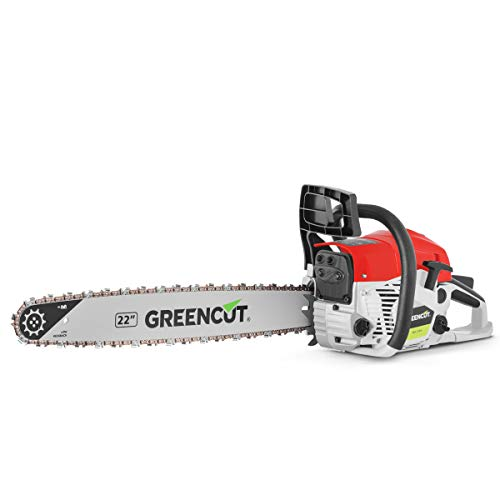 Greencut GS6800 Motosega a Benzina 68cc 3,9cv Lama da 22' Potatura Potente, 0 V, Rosso, 62cc