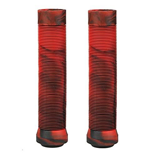 YYOMXXOM Grips de Scooter agarres de Bicicletas 145 mm Barras de longneck sin flangeles Suaves Ajuste para PROCIT SCUNT SCUNTER Anterior Y BMX Bikes BARRES Blancos Y Blancos (Color : Red)