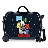 Disney Mickey´S Party Maleta Infantil Azul 50x38x20 cms Rígida ABS Cierre de combinación Lateral 34L 3 kgs 4 Ruedas...