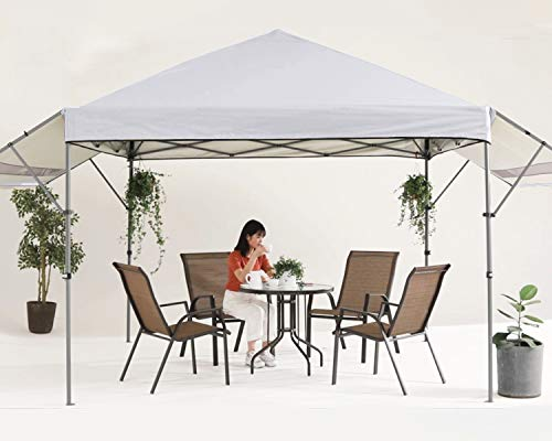 MASTERCANOPY 10x10 Pop-up Gazebo Canopy Tent with Double Awnings Beige