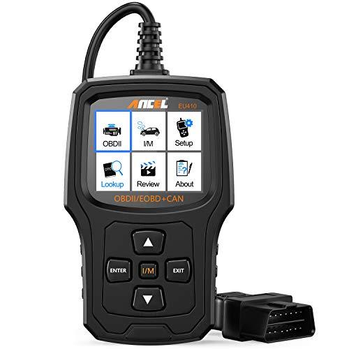 ANCEL EU410PRO OBD2 Diagnosegerät, Universal Automotor Fehler-Code Scanner O2 Sensor EVAP Systeme Scanner mit Voll OBD2 Funktionen