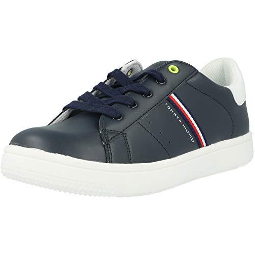 Tommy Hilfiger Trainer Blauw/Wit Eco Leer Kinderen Sneakers Schoenen