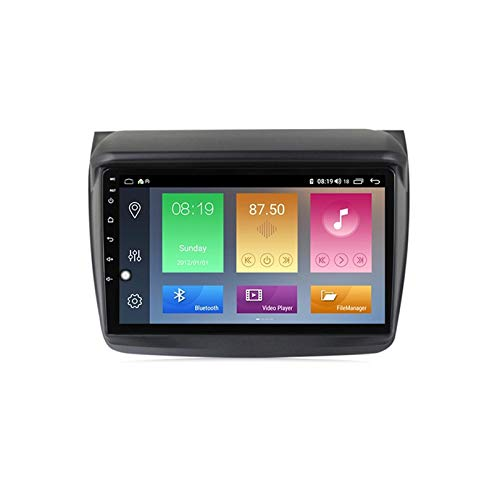 ADMLZQQ Stereo Radio Coche para Mitsubishi Pajero Sport L200 2008-2016 con 9 Pulgada Android 10 Autoradio Radio con cámara Trasera/Google Play/Mapa en línea/Salida de Video,WiFi 1+16