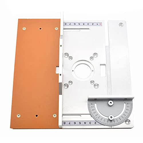 jumpXL Aluminum Router Table Insert Plate the Trim Panel for Woodworking Benches with 8 Rings and Screws 245X240X8mm aluminum board