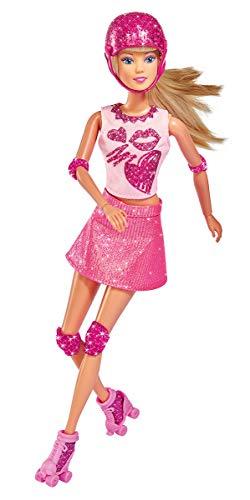 Simba 105733268 Glitter Skates Spielpuppe, Mehrfarbig