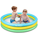 AKASO Kiddie Pools, 59'' x 13'', Inflatable Swimming Pools For Boys, Girls, Toddlers, Easy Set Up Inflatable Baby Ball Pit Pool for Ages 2+, Garden, Backyard, Outdoor Summer Water Party