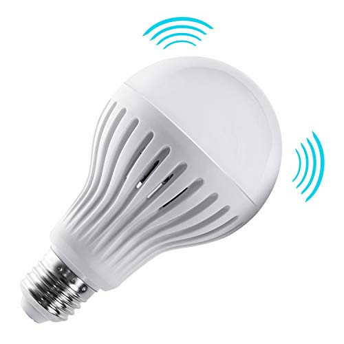 Maclean MCE176 LED Glühbirne mit Mikrowellen Bewegungsmelder LED Birne E27 Birne Leuchtmittel Glühlampe Lampe (Warmweiß, 12V)