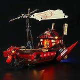 LIGHTAILING Conjunto de Luces (Ninjago Barco de Asalto Ninja) Modelo de Construcción de Bloques - Kit de luz LED Compatible con Lego 71705(NO Incluido en el Modelo)