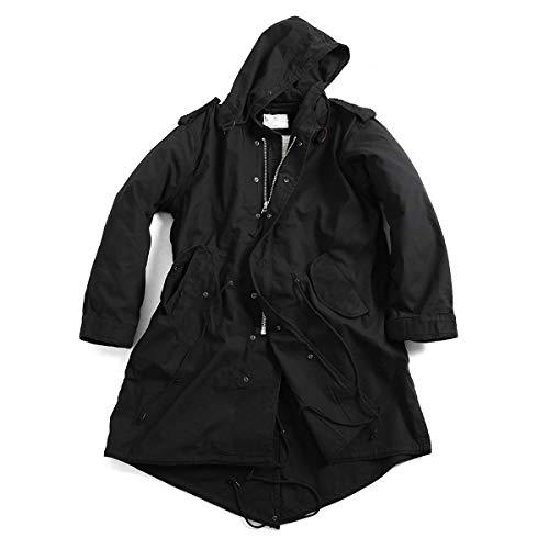 UNILETS M-51 Fishtail Parka Jacket with Liner Black Military (M, Black)