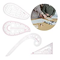 実用的な4pcsファイングレーディング定規コンビニエンスプレート描画作物を作る他の服のデザインの面付け