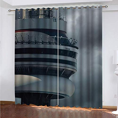 WLHRJ blackout curtains for bedroom living rooms kids kitchen window 3D Digital printing curtains eyelet - 63x63 inch - Rock music singer