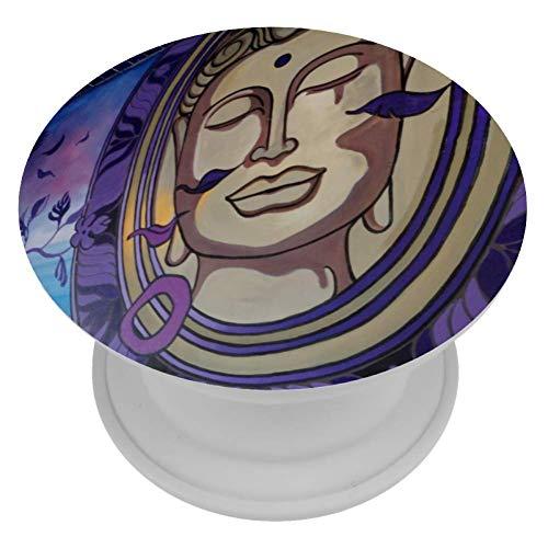 HANDIYA Buddha Standbeeld Telefoon Ring Houder Vinger vouw Kickstand Biedt een veilige grip zodat u tekst met één hand, snap betere foto's, en bekijk video's handsfree
