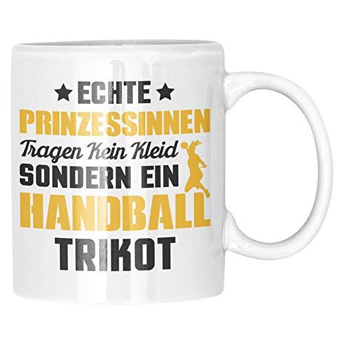 Tasse Handball Spielerin - Handballerin Kaffeebecher Geschenk Spruch - Handball Frauen Mädchen Geschenkidee