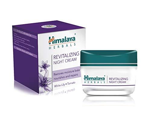 Himalaya Herbals Revitalizing Night Cream | Luxuriöse, tiefe, penetrierende und hypoallergene Creme | Gesichtscreme während der Nacht für trockene und gemischte Haut (Revitalizing Night Cream)