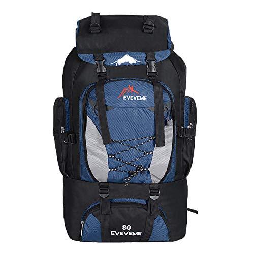 Gracorgzjs Rucksack für Outdoor-Sport, Camping, Wandern, 80 l, dunkelblau