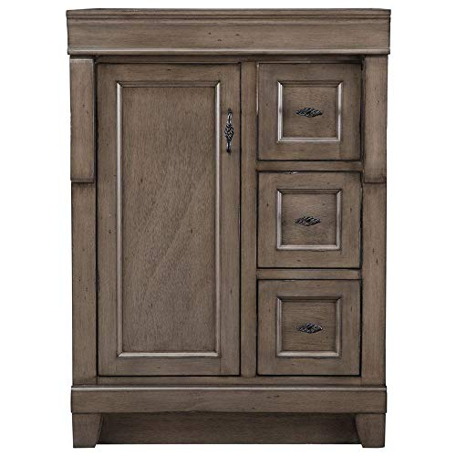 Home Decorators Collection Naples 24 in. W x 21 5/8 in. D Bath Vanity Cabinet Only in Distressed Grey