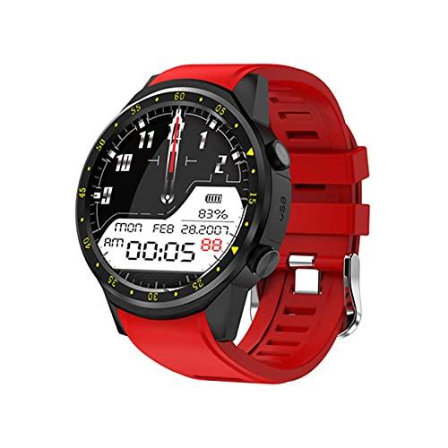 ZWG Herren Smart Watch F1 mit Kamera Höhenmesser Unterstützung Herzfrequenz SIM-Karte Smart Watch Damenuhr 1,3 Zoll Smartphone (B)