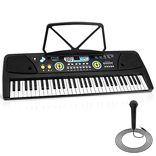 Pyle, Electric Keyboard 61 Keys-Portable Digital Musical Karaoke Piano Keyboard-10...