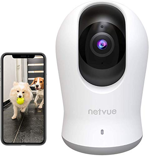 Telecamera Wi-Fi Interno - 3K 3MP Super HD Videocamera Sorveglianza Pan 360 °con PTZ 8X Zoom, Wifi Telecamera IP di Sorveglianza,Visione Notturna, Audio Bidirezionale, AI Rilevamento Umano