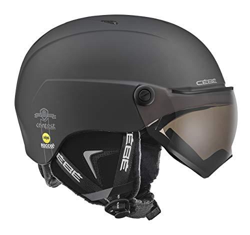 Cébé Contest Vision MIPS skihelm, uniseks, volwassenen, mat zwart, 54-56 cm