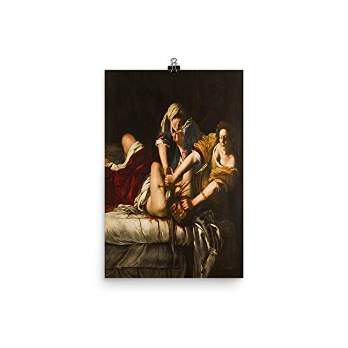 Vintage Images Artemisia Gentileschi's Judith Slaying Holofernes 1863 - Premium Luster Photo Paper Poster (12x18)