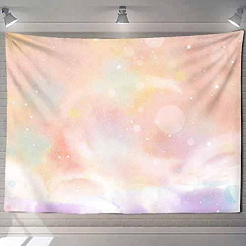TINGPF TapizTapiz Estrellado de Luna Rosa Universo Colgante de Pared Dormitorio tapices de Dormitorio Arte hogar psicodélico Kawaii decoración de Dormitorio